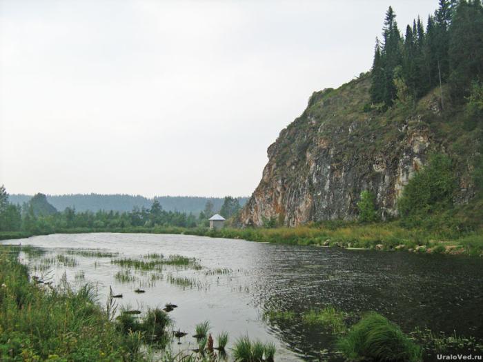 Озеро-источник в Нижних Сергах