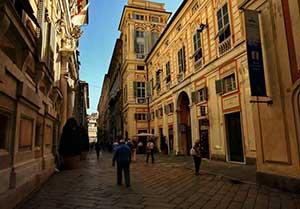 Улица Гарибальди в Генуе