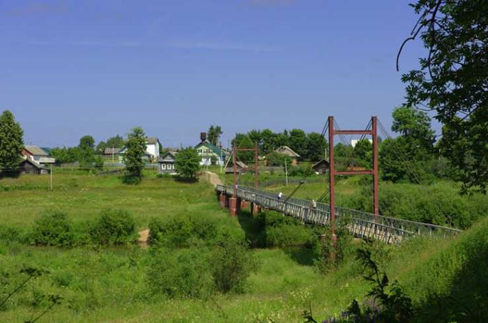 Городской парк. Пешеходный мост