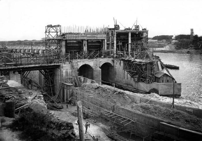 Строительство ГЭС в Волхове (1926 )
