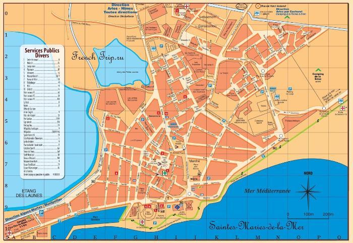 Карта Сент-Мари-де-ла-Мер (Saintes-Maries-de-la-Mer)
