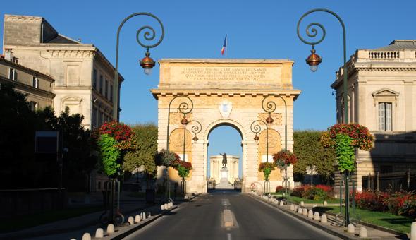 Триумфальная арка, Монпелье, Франция - достопримечательности Монпелье