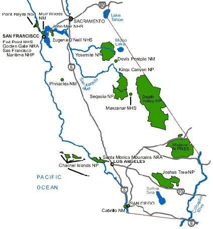 Достопримечательности поблизости с национальными парками Секвойя и Кингз-Каньон.