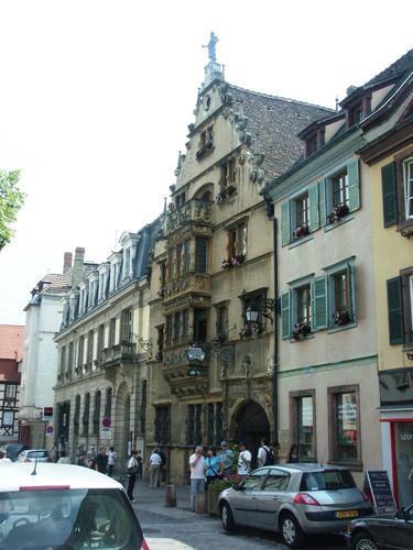 Город Кольмар во Франция фото «Дом с головами»