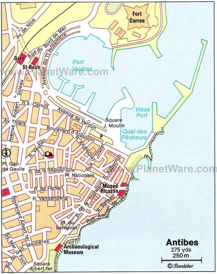 Antibes (Антибы, Антиб), Лазурный берег Франции