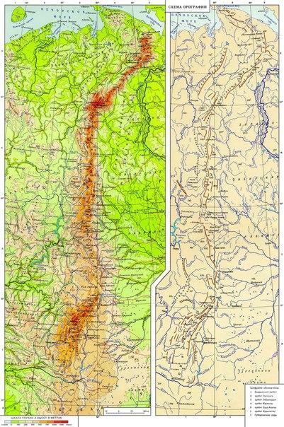 Карта Урала