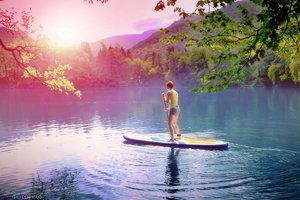 На голубых озерах в Кабардино-Балкарии