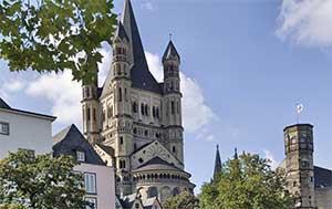 Церковь Святого Мартина - одна из главных достопримечательностей города Кельн в Германии
