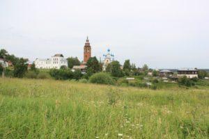 Вид на Чердынь с Вятского холма