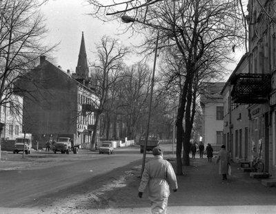 Главная улица Славска в 1980-е гг.