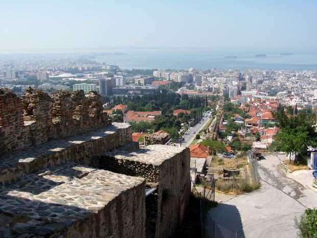 Вид на город из Ано Поли