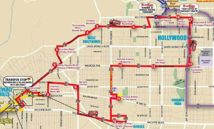 Маршрут по Лос-Анджелесу