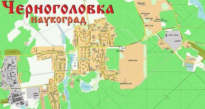Черноголовка Московская область карта