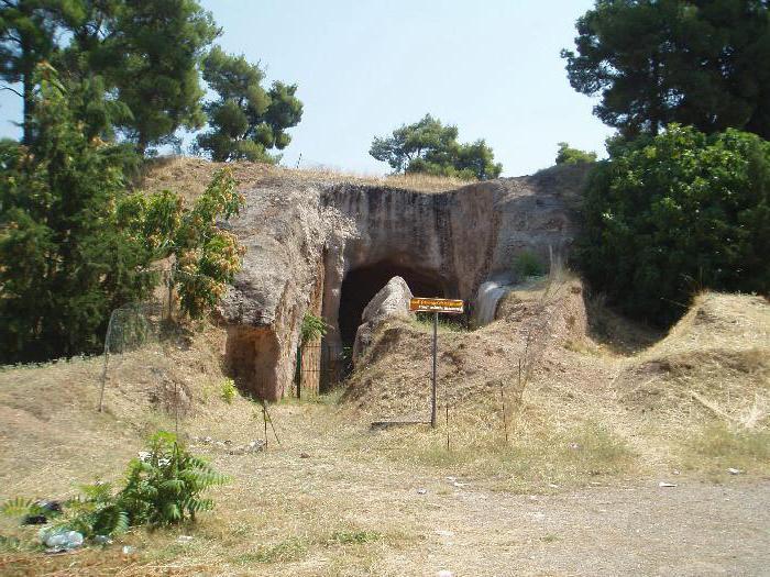 город Фивы в Греции