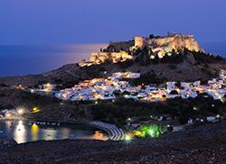 Линдос ночью, Родос