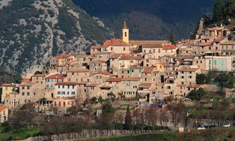 Деревенька Saint Agnes - одна из самых красивых во Франции