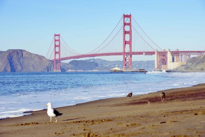 Пляж Бейкер-Бич в Сан-Франциско