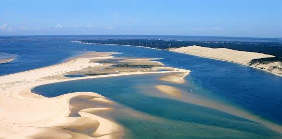Песчаные пляжи Аркашона Регион Аквитания, Франция