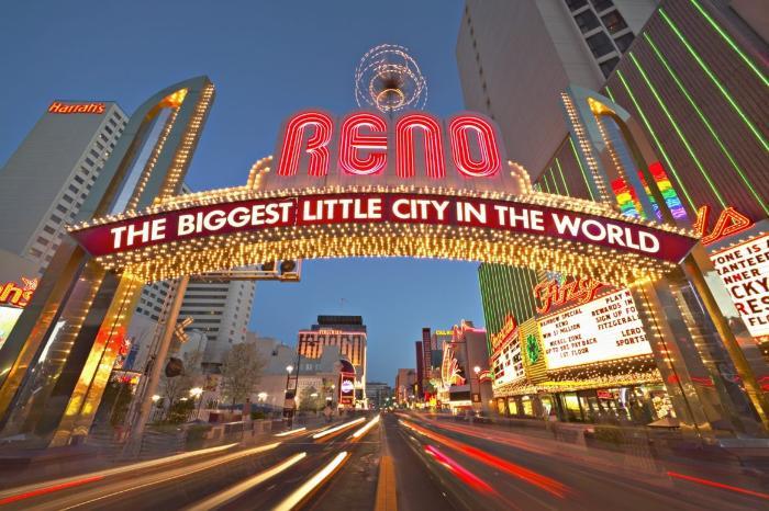 Город Рино в Неваде