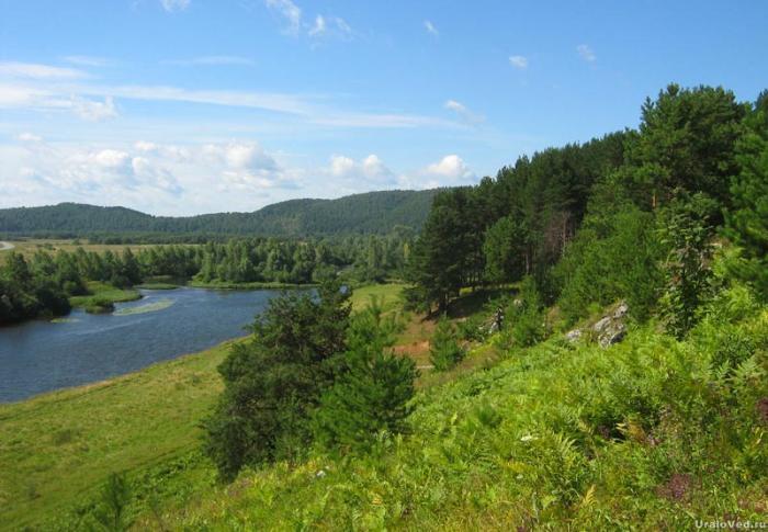 Окрестности Михайловска, река Серга