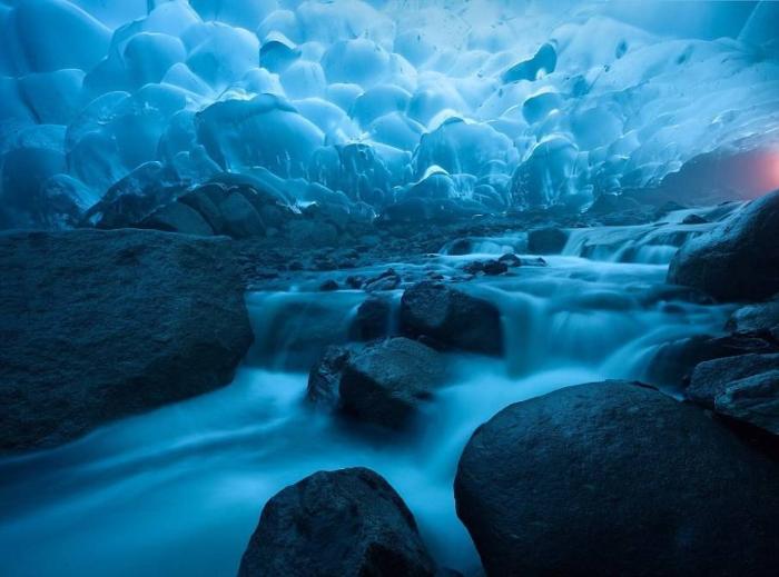 Ледник Менденхолл Аляска фото
