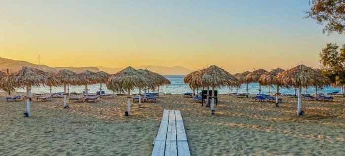 пляж миконос иос греция