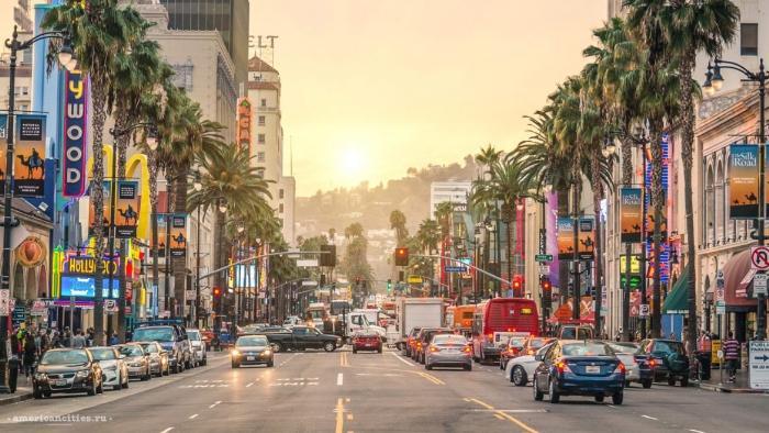 улицы города Лос-Анджелес