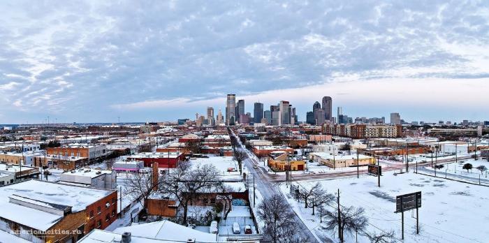 Даллас в зимнее время