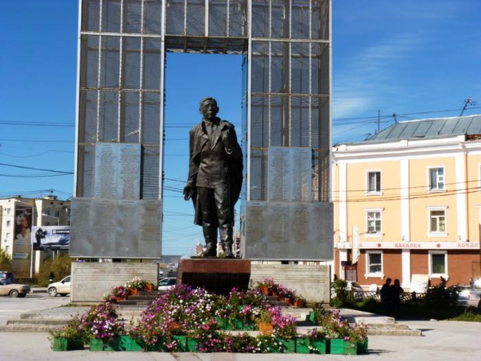 Памятник П. Ойунскому