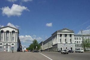 Красная площадь. Город Курск.