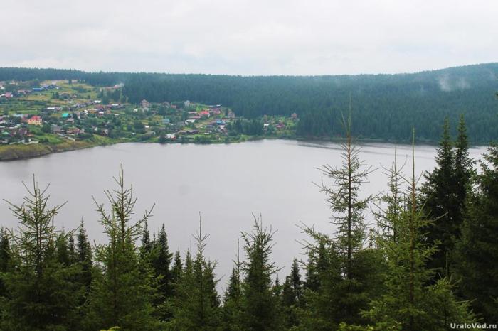 Вид с горы Аптечной (Кукан, Нудовская) на Сергинский пруд