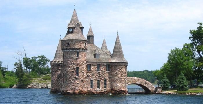 дом-крепость в парке Тысяча островов