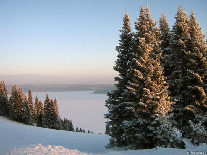 Горнолыжка на горе Воронинской