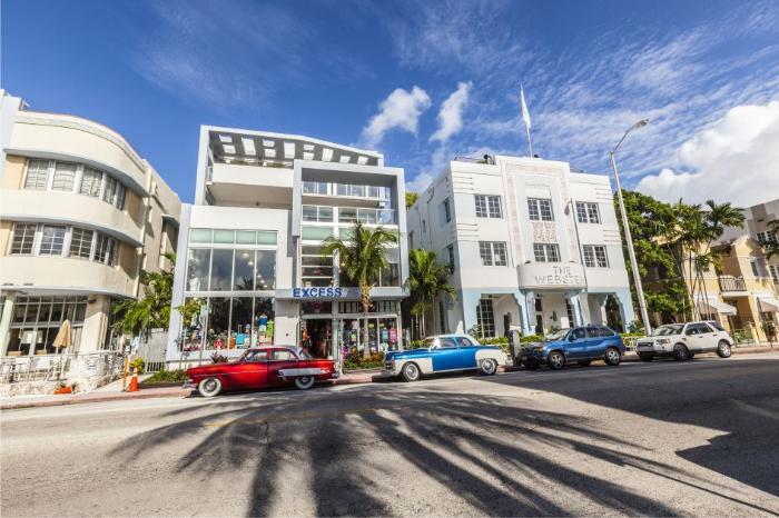 Фото знаменитой улицы Оушен Драйв в Майами, Флорида