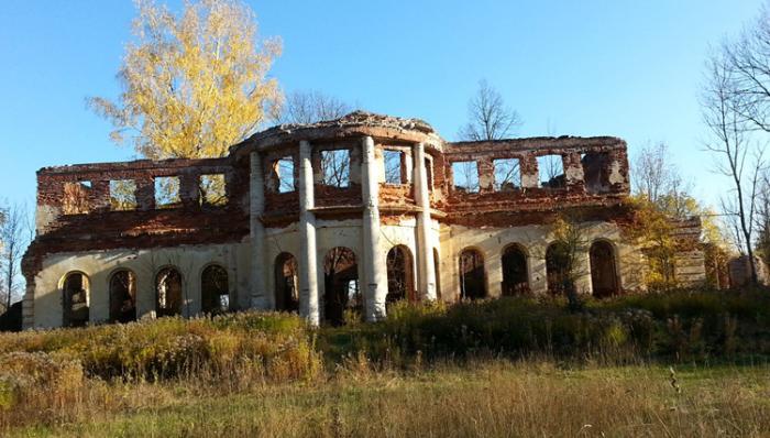 Руины усадьбы Голицыных