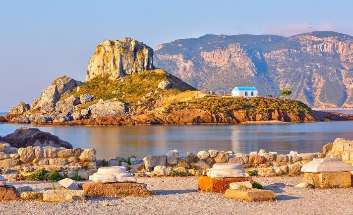 Остров Кастри. Кос, Греция.