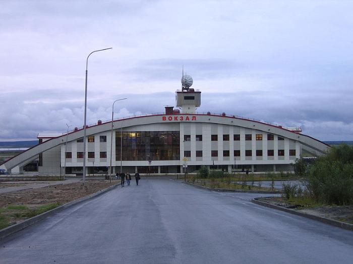 Вокзал города Лабытнанги
