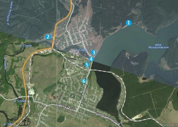 Карта достопримечательностей Михайловска