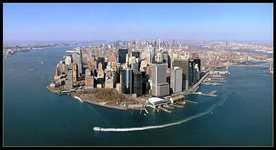 Центр города на полуострове в Нью Джерси