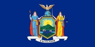 New York. Официальный флаг штата
