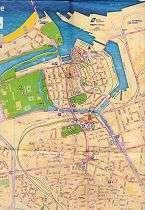 Туристическая карта достопримечательностей Кале