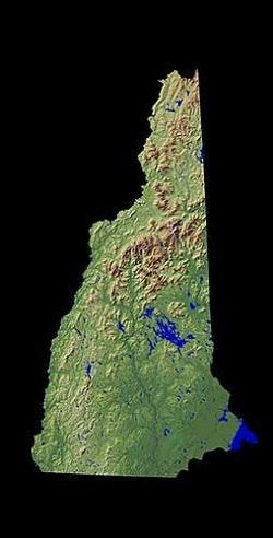 Рельеф штата Нью-Гэмпшир