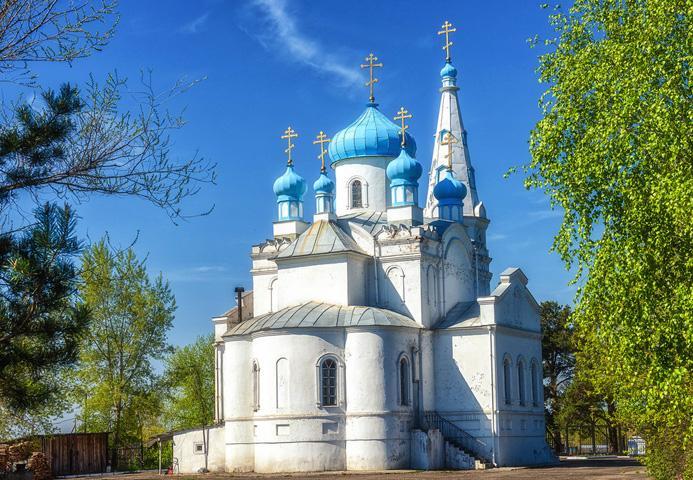 Александро-Невская церковь на Оби