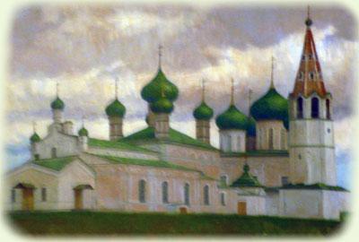 Соборная площадь в старом Данилове