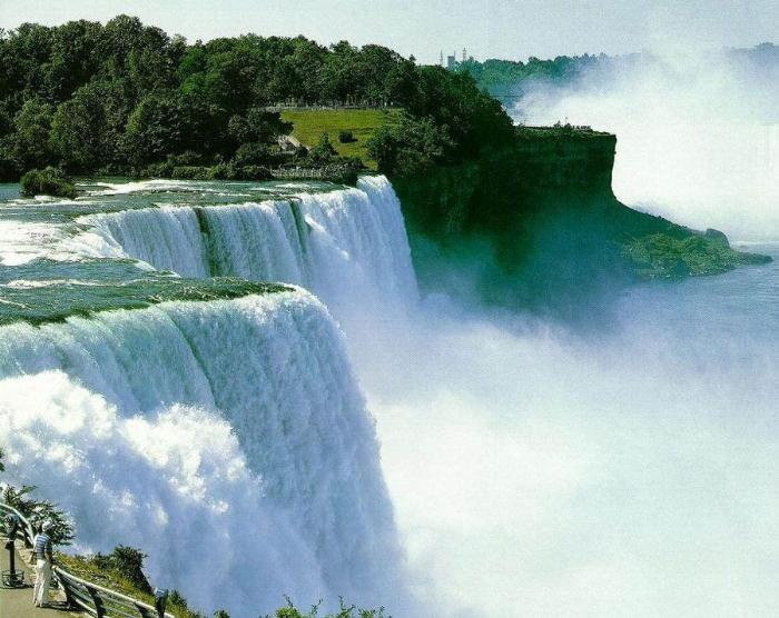 Онтарио - водопад, вид сверху