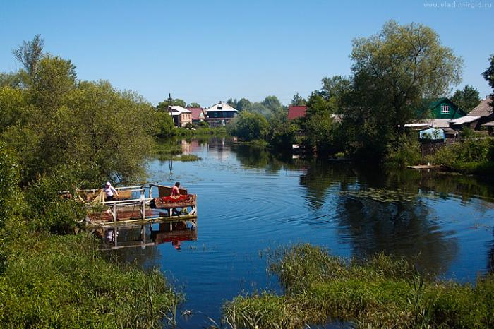 Река Судогда в городе Судогда