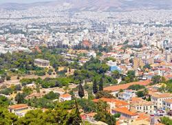 Афины, вид сверху