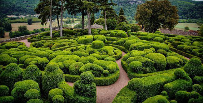 Jardins de Marqueyssac - Регион Аквитания, Франция, города и достопримечательности Аквитании