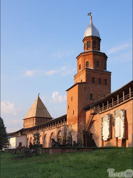 великий новгород, кремль, самая высокая башня, дозорная башня Кокуй