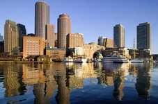 Залив в Бостоне Америка